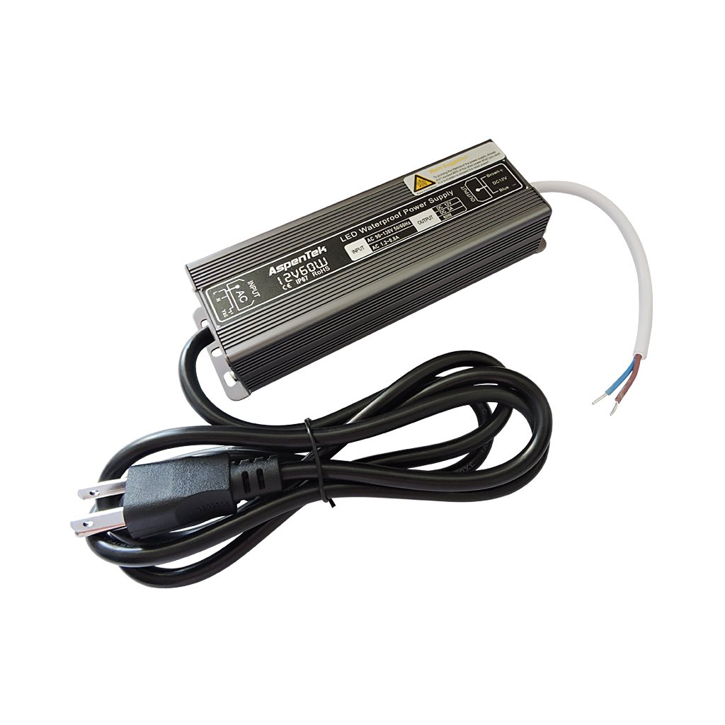 Aspentek 12v dc waterproof led power supply driver for Waterproof dc motor 12v