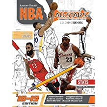 NBA All Stars 2018-2019: The Ultimate Basketball Coloring and Activity Book for Adults and Kids