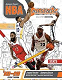 NBA All Stars 2018-2019: The Ultimate Basketball Coloring and Activity Book for Adults