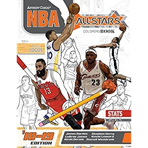NBA All Stars 2018-2019: The Ultimate Basketball Coloring and Activity Book for Adults and Kids (All Star Sports Coloring) (Volume 5) 5