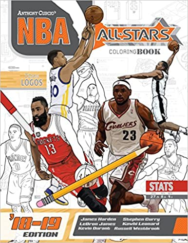 a789a3c48f1 NBA All Stars 2018-2019  The Ultimate Basketball Coloring and Activity Book  for Adults and Kids (All Star Sports Coloring) (Volume 5)  Anthony Curcio   ...