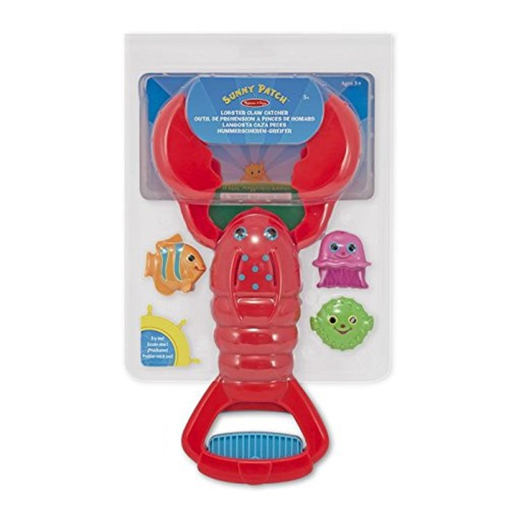 Melissa & Doug Sunny Patch Louie Lobster Claw Catcher - Grab-and-Squeeze Pool Toy Melissa and Doug 16669