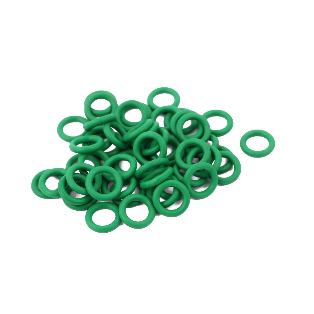uxcell 50pcs 8mmx1.5mm Heat Resistant Mini Green O-Ring Rubber Sealing Ring