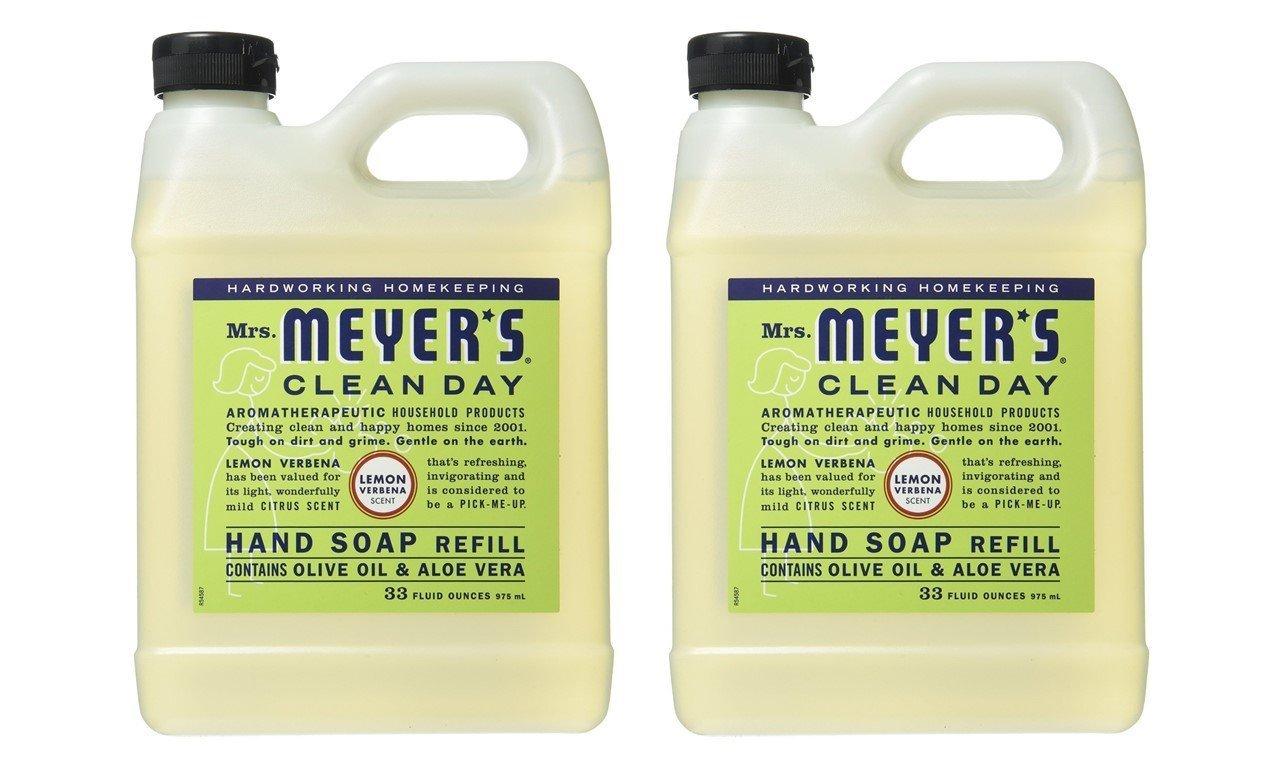 Mrs. Meyers Mrs. Meyers Liquid Hand Soap Refill, 33 Oz, Lemon Verbena Scent, Pack Of 2