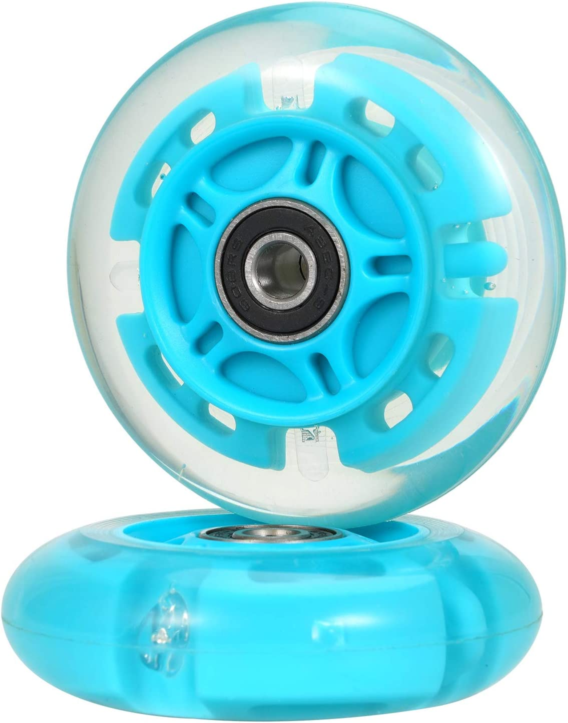 80mm Led Flashing Wheels Replacement for Inline Skate and Kick Scooter Installed Abec9 Bearing kutrick 80mm Inline Skate Wheels Kick Scooter Rear Wheels Replacement Pair