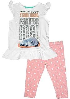 Girls 2 Piece Kitten Pom Pom Cat Long Sleeve Top /& Leggings Set Sizes from 2 to 6 Years