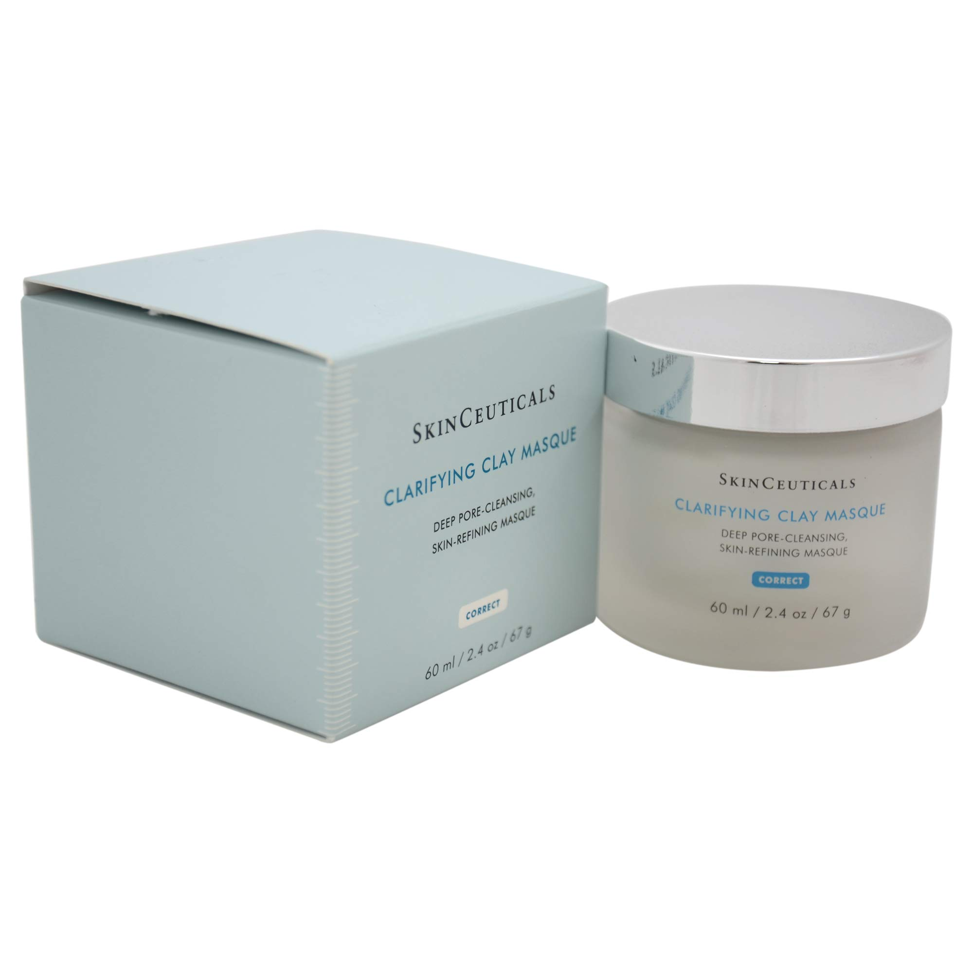 Skinceuticals  Clarifying Clay Masque Deep Pore-cleansing Skin-refining Masque, 2.4-Ounce Jar