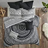Urban Habitat Larisa 7 Piece Cotton Comforter Set Black King/Cal King