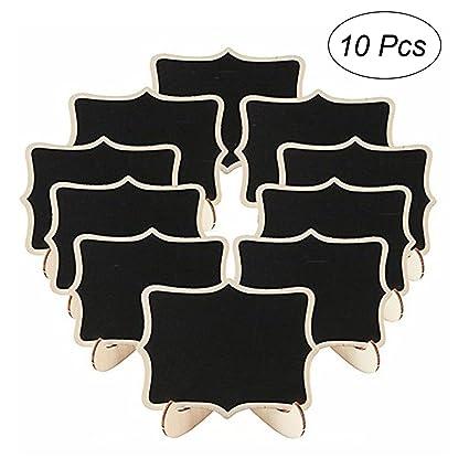 ULTNICE 10pcs pizarras decorativas Mini tablero de mensajes ...