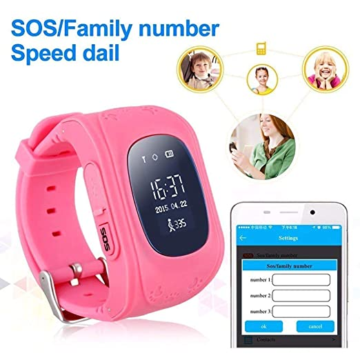 NDHUC Smart Watch para Niños Anti Perdido GPS Smartwatch Tracker ...