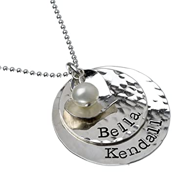 amazon com glittery glam sterling silver personalized necklace