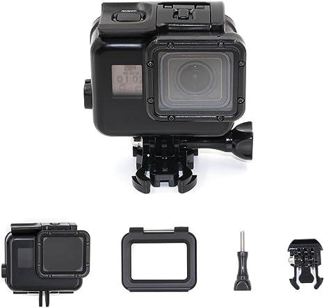TELESIN pantalla táctil 45M caja de buceo impermeable + puerta trasera táctil LCD para GoPro Hero6 / 5 negro, carcasa de buceo protectora fotografía submarina Accesorios para cámaras - Negro: Amazon.es: Deportes