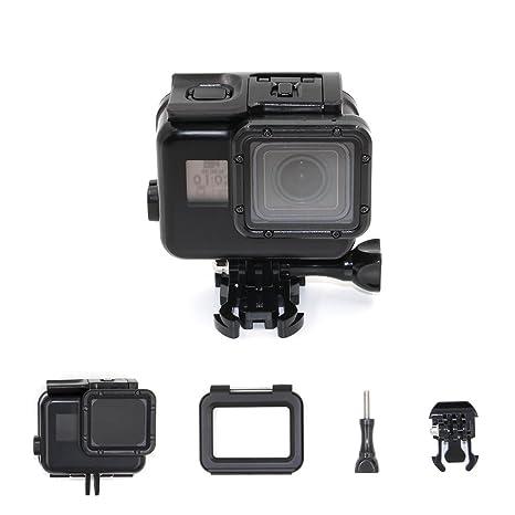TELESIN pantalla táctil 45M caja de buceo impermeable + puerta trasera táctil LCD para GoPro Hero6 / 5 negro, carcasa de buceo protectora fotografía ...