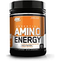 OPTIMUM NUTRITION ESSENTIAL AMINO ENERGY, Orange Cooler, Preworkout and Essential Amino Acids with Green Tea and Green Coffee Extract, 65 Servings