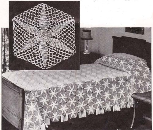 (Radiant Star Motif Crochet Bespread Pattern - Crocheted Together - No)