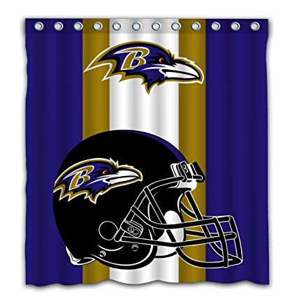 Image Unavailable Not Available For Color Potteroy Baltimore Ravens Team Simple Design Shower Curtain