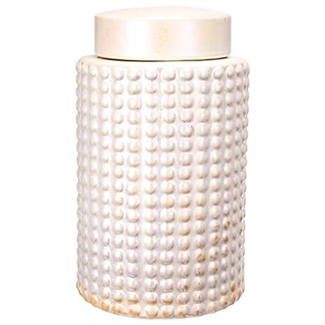Amazon.com: Benzara BM165671 - Tarro de cerámica con tapa y ...