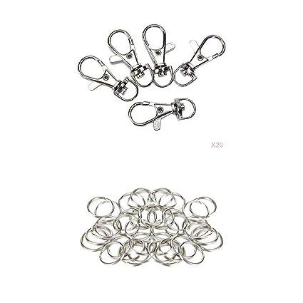 Amazon.com: NATFUR - 200 anillas de langosta con cierre ...