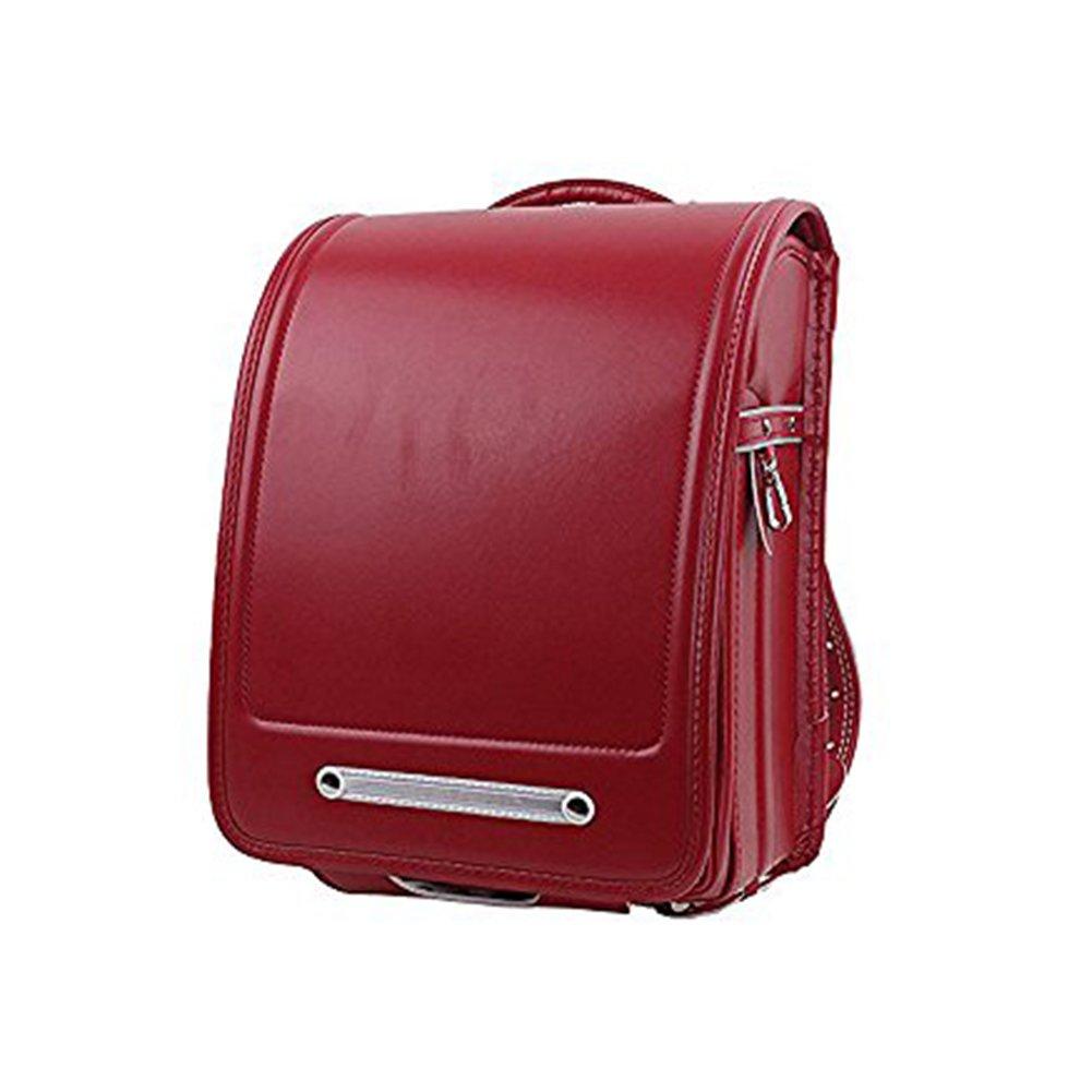 Randoseru Satchel Bag A4 Clear File Fits School Bag with Rain Cover (Wine Red)