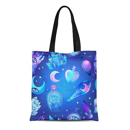 Amazon com: Semtomn Cotton Canvas Tote Bag Glass Flasks