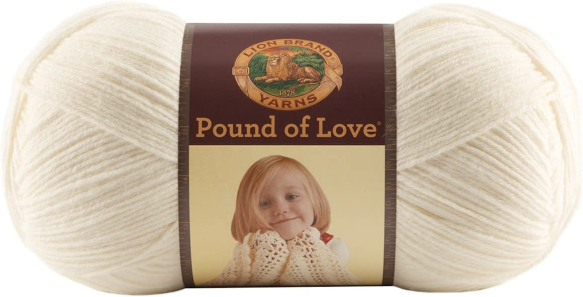 Lion Brand Yarn 550-108 Pound of Love Yarn Aquamarine One Size