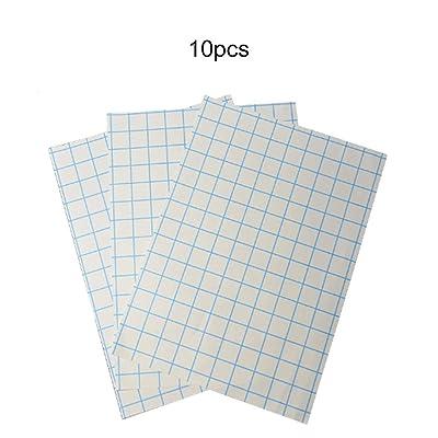10 hojas A4 Papel de transferencia Tipo de lágrima térmico digital Impresión en color oscuro Impresión rápida para cualquier material Tela de algodón Plancha de inyección de tinta - Blanco: Oficina y papelería