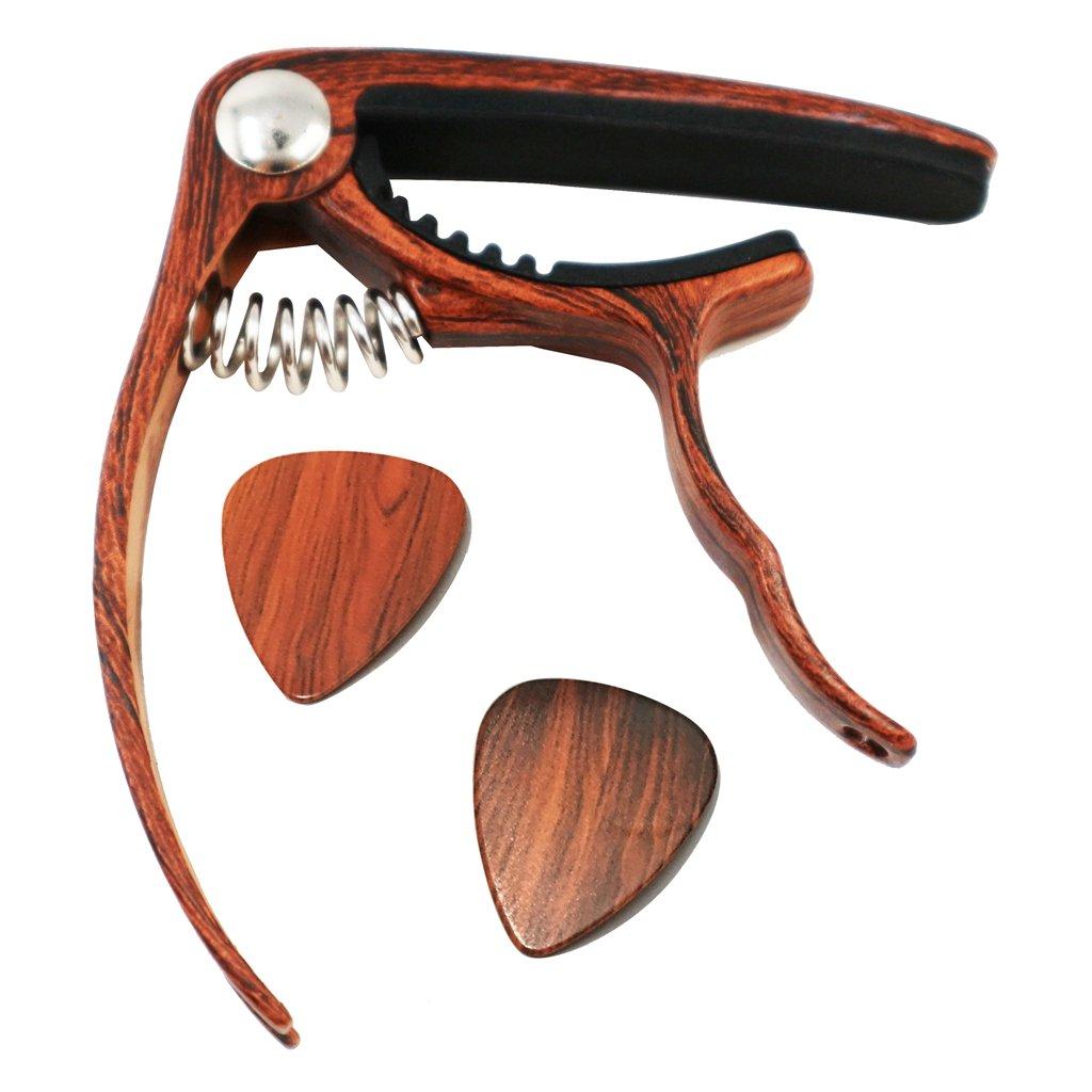 Moreyes Capodastre pour guitares acoustiques et électriques–Ukulélé et banjo à changement rapide Capodastres GC-10 rosewood