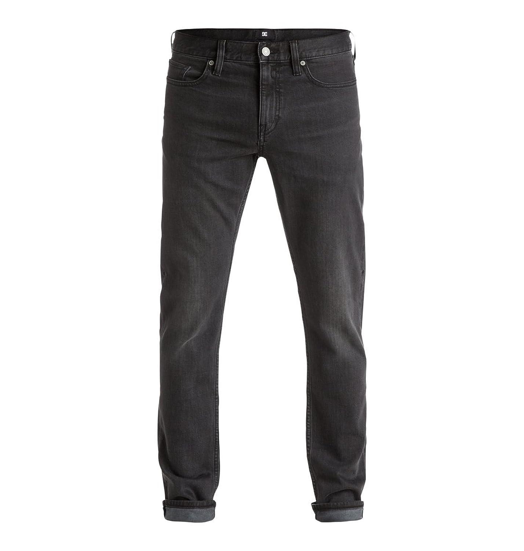 DC Men's Washed Slim Jean Medium Grey