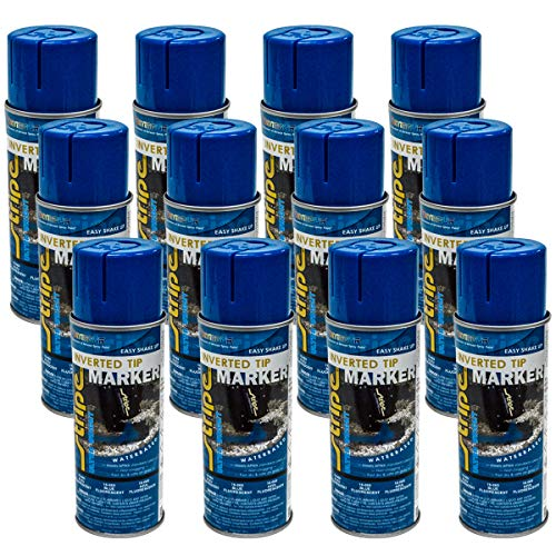12PK 13oz Seymour Inverted Blue Landscaping Construction Marking Paint 16-669 -