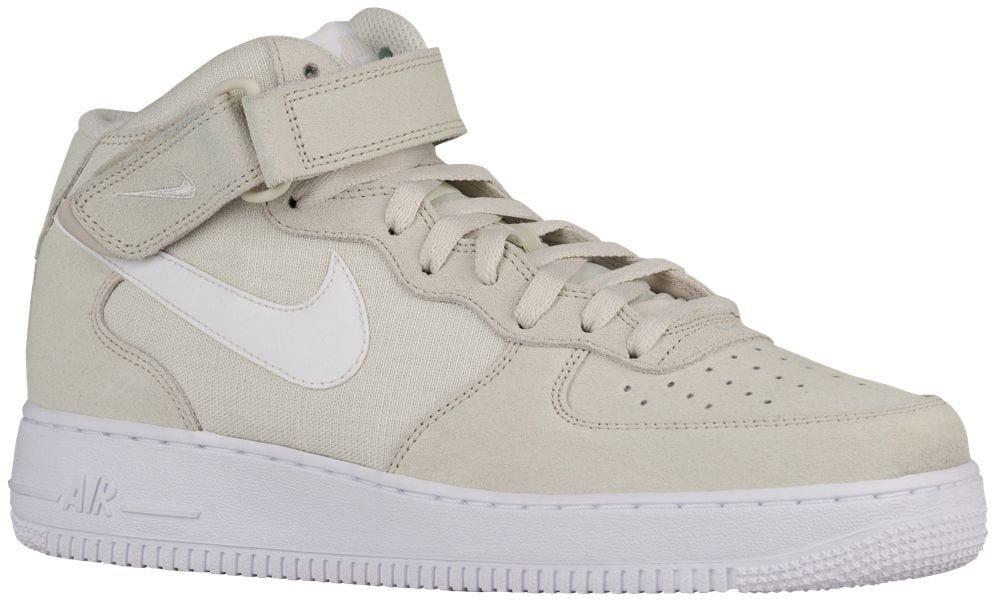 [ナイキ] Nike Air Force 1 Mid - メンズ バスケット [並行輸入品] B072QWJ41Q US13.0 Light Bone/White/White