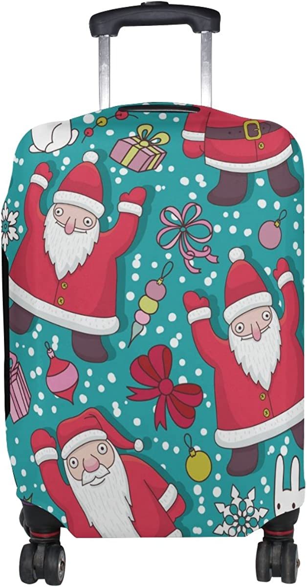 LAVOVO Christmas Father Santa Claus Luggage Cover Suitcase Protector Carry On Covers