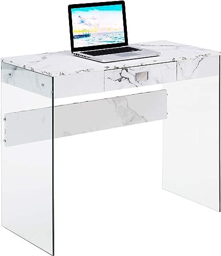 Convenience Concepts SoHo Glass Desk
