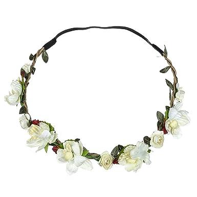 Neu Garland Simulation Kleine Blume Haarband Damen Stirnband Kopfband, LEEDY Tanzparty Party Geschenk Neuheit Blume Muster be