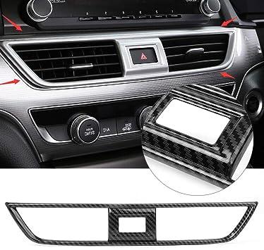 Carbon Fiber Center Dashboard Air Vent Cover Trim For Honda Accord 2018 2019
