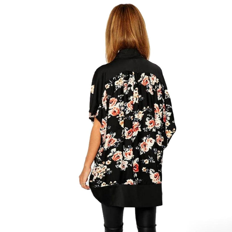 Womail Women Fashion Chiffon Floral Kimono Cardigan Tops Blouse