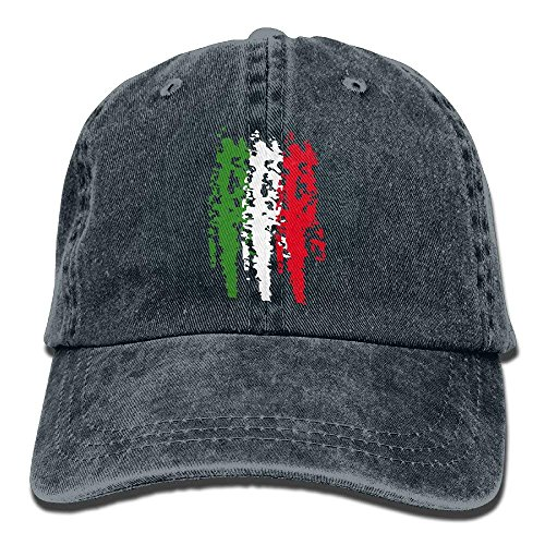 (Whenpigsfly Italia Italy Italian Flag Mens&Womens Vintage Style Classic Sandwich Cap Baseball Cap Design3)