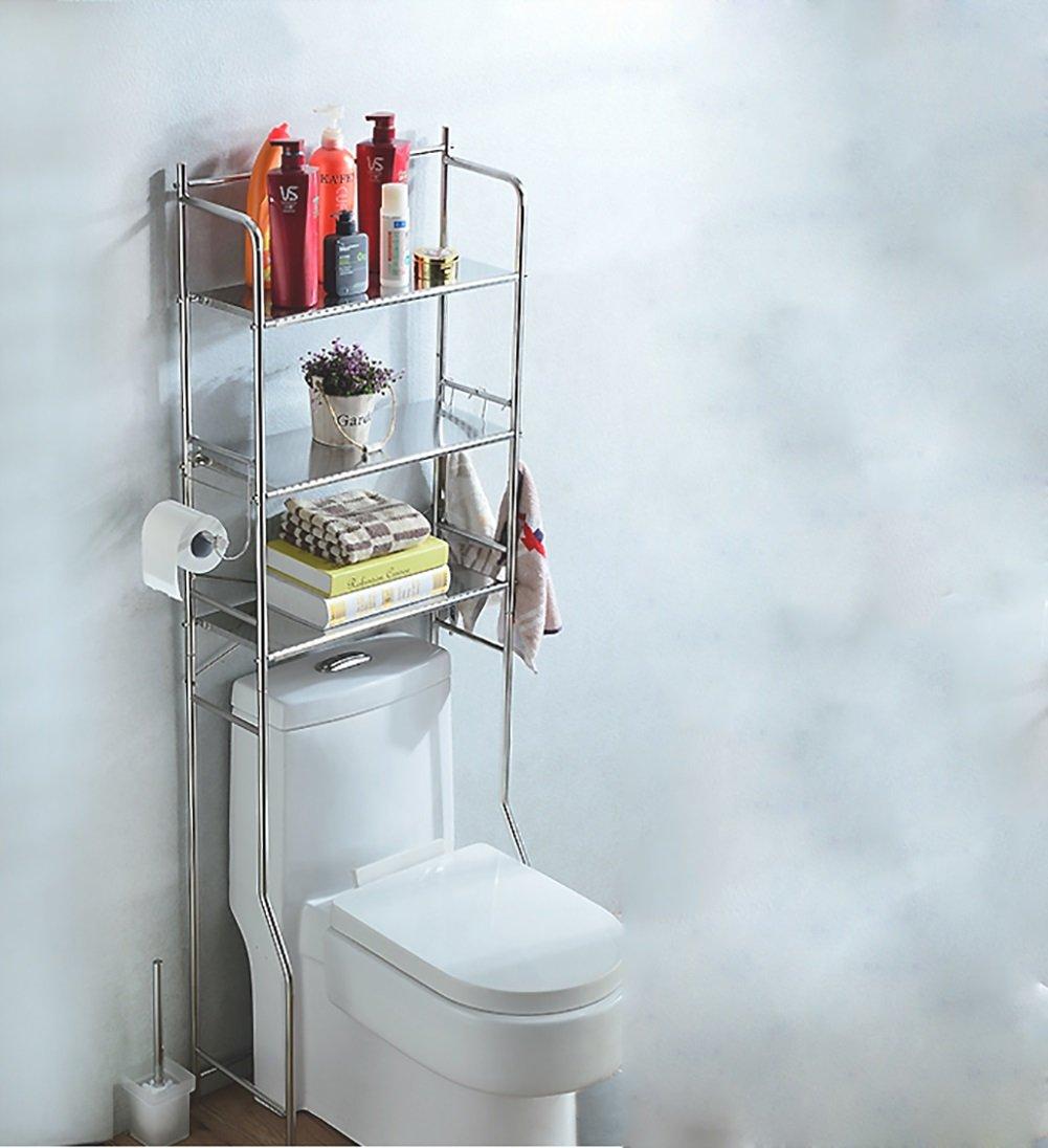 Couches doubles Étagère de toilette Ensemble de lavabo Étagère de rangement de salle de bain avec support de papier