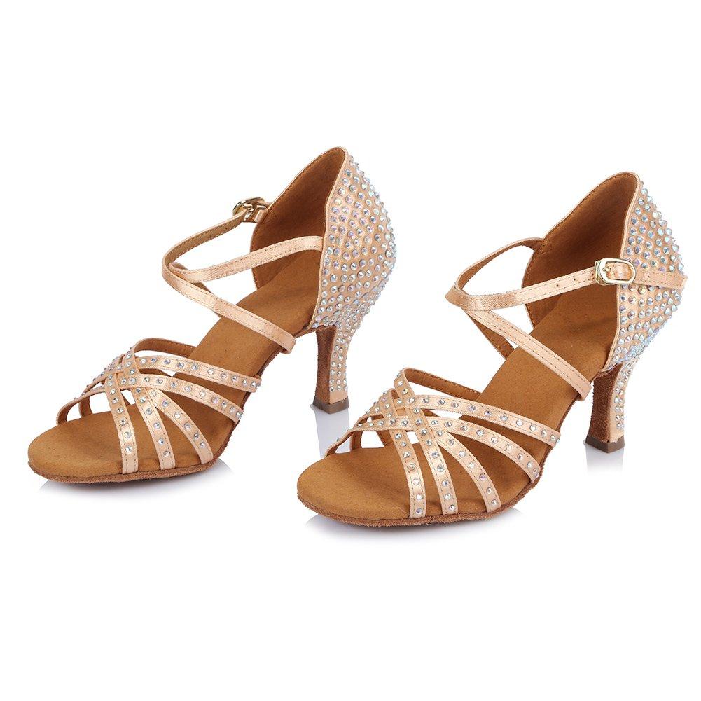 0c94cb8a8d HIPPOSEUS Donna Standard Scarpe da Ballo Latino,Strass, Apri Le Dita dei  Piedi,Modello ITAFCT404: Amazon.it: Scarpe e borse