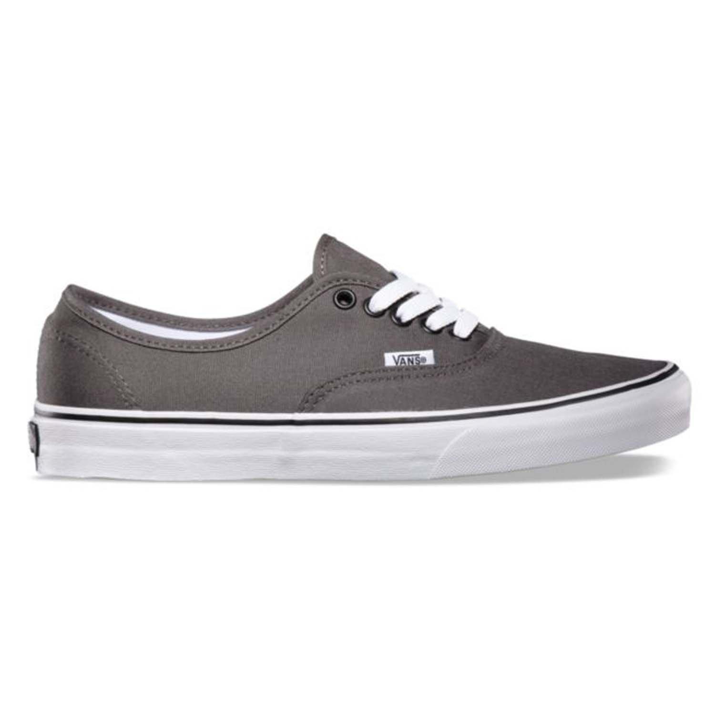 Vans Unisex Authentic Pewter/Black Sneaker - 10