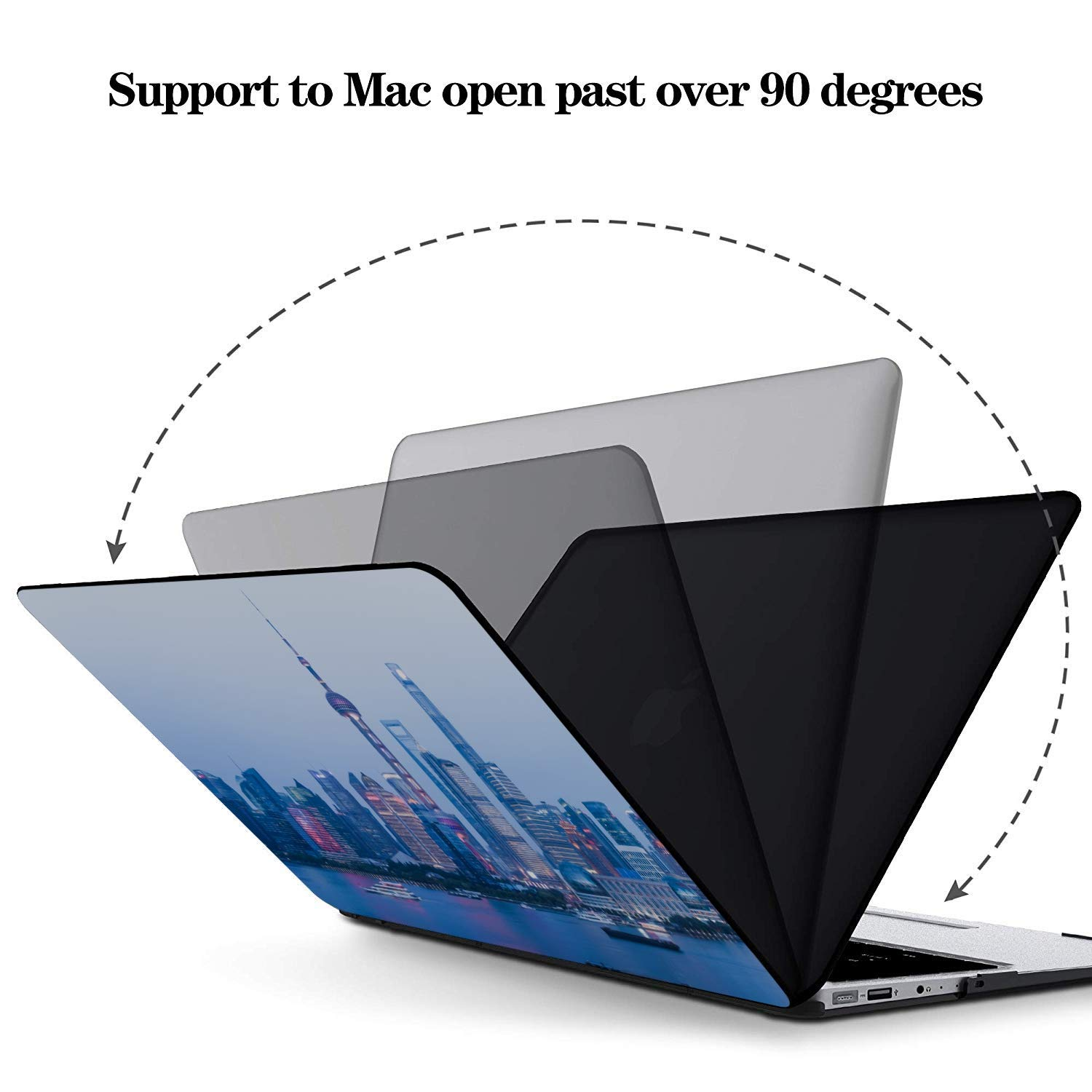 Laptop Pro Accessories Sign Travel Building Oriental Pearl Plastic Hard Shell Compatible Mac Air 11 Pro 13 15 MacBook Accessories Protection for MacBook 2016-2019 Version