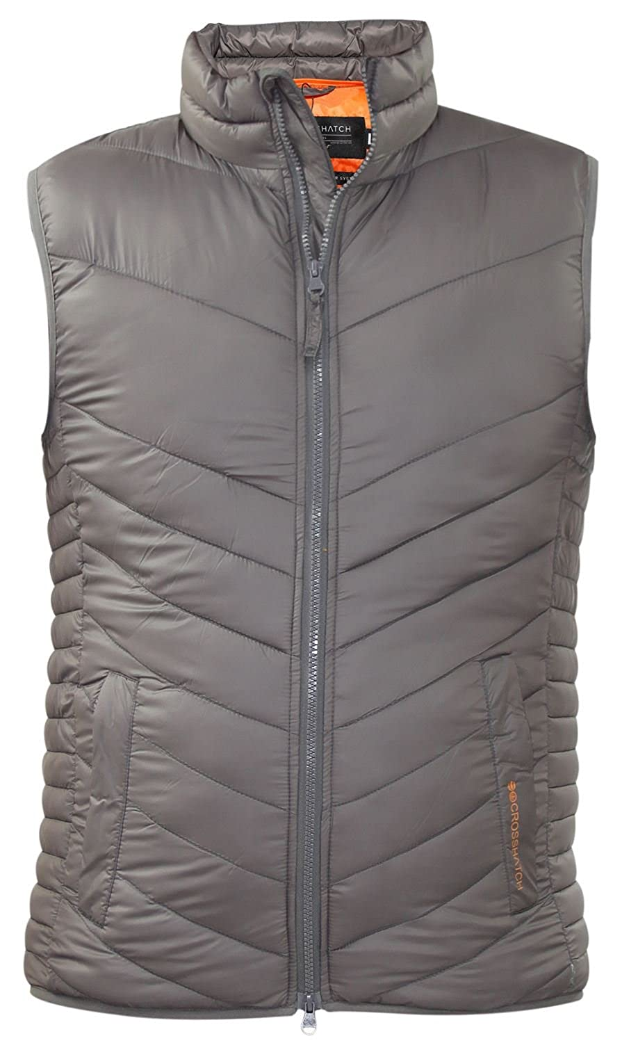 New Mens Bodywarmer Padded Crosshatch Branded Body Warmer Gilet Quilted Jacket CH110806
