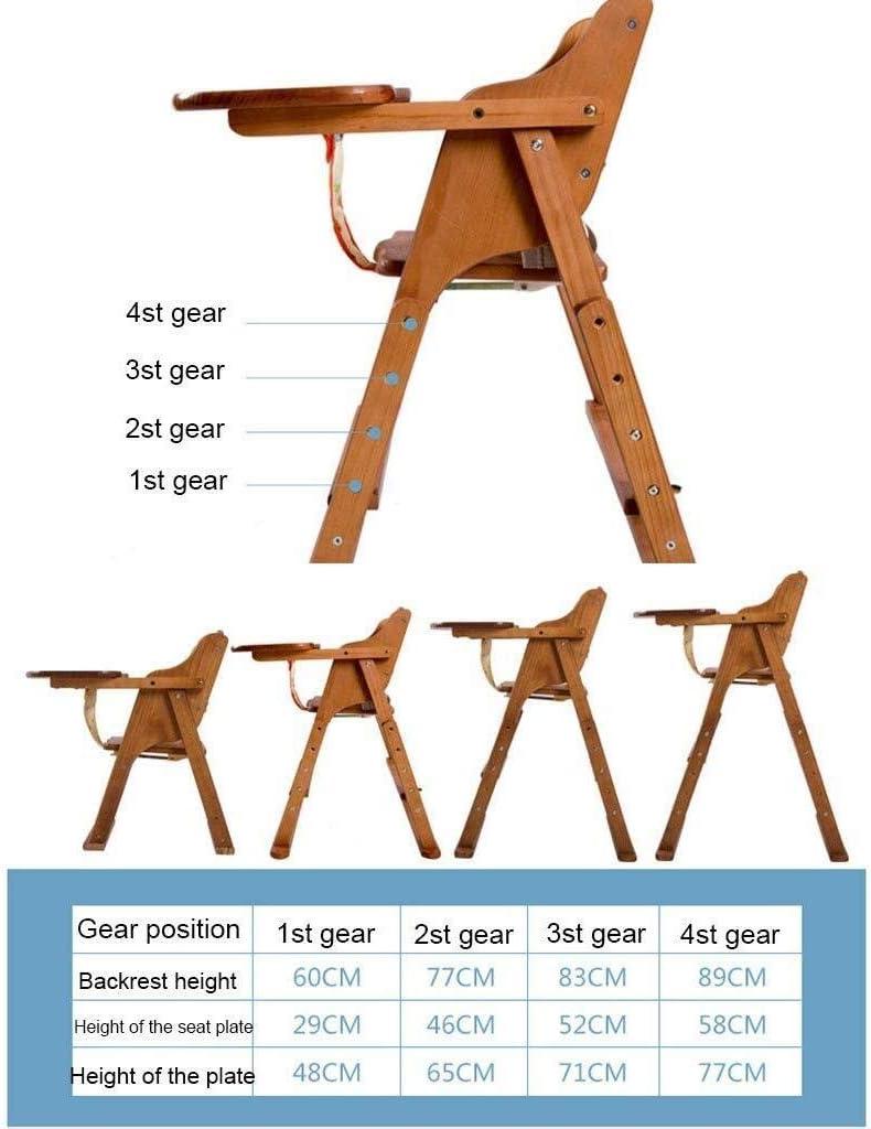 LAZ 木製ベビーハイチェア7歳の赤ちゃんへの10ヶ月間の高さ調節可能な幼児の摂食ダイニング席