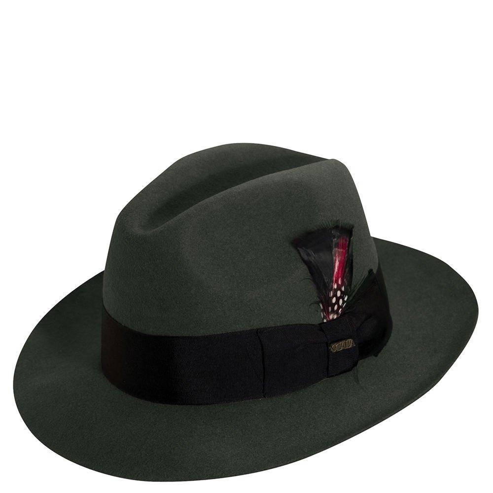 Scala Men's Wool Felt Fedora Hat WF536