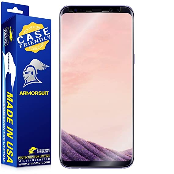 buy online f2358 ab25f ArmorSuit - Galaxy S8 Plus Screen Protector [Case Friendly] MilitaryShield  for Samsung Galaxy S8 Plus Anti-Bubble Lifetime Replacement HD Clear