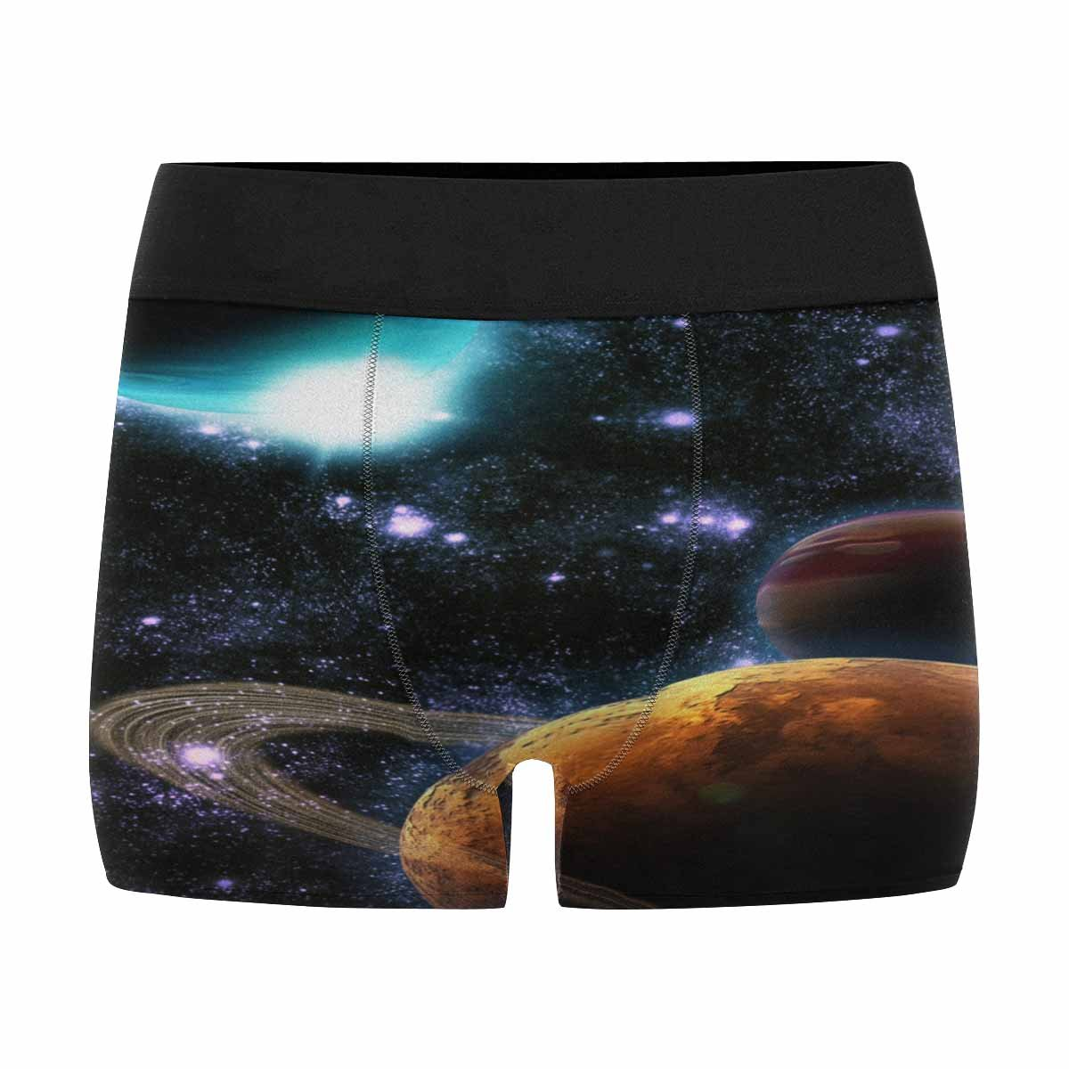 XS-3XL INTERESTPRINT Custom Mens Boxer Briefs Abstract Planet with Sun Flare in Deep Space Star Nebula