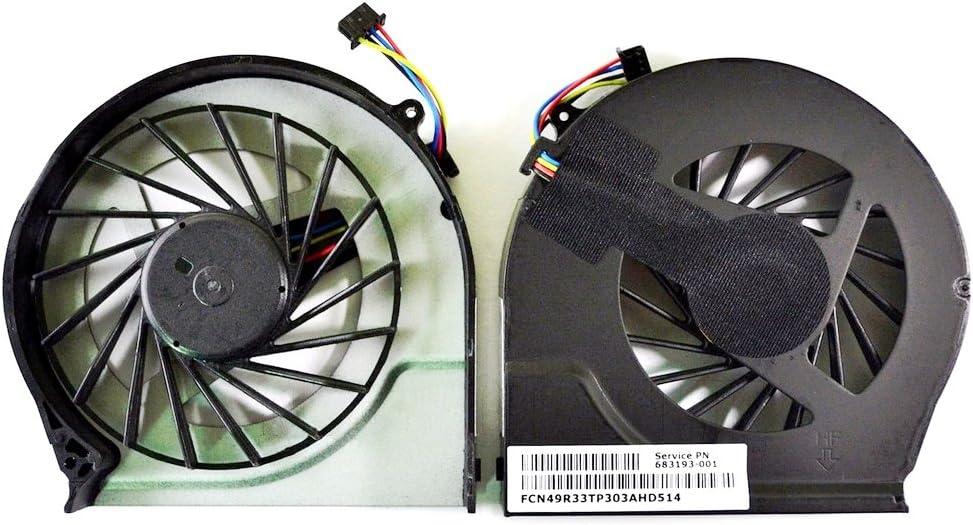 Todiys CPU Fan for HP Pavilion G4-2000 G6-2000 G6-2100 G6-2200 G6-2300 G7-2000 G7-2100 G7-2200 G7-2300 G7Z Series 683193-001 685477-001