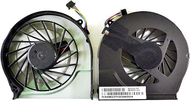 Todiys - Ventilador de CPU para HP Pavilion G4-2000 G6-2000 G6-2100 G6-2200 G6-2300 G7-2000 G7-2100 G7-2200 G7-2300 G7Z Series 683193-001 685477-001: Amazon.es: Electrónica