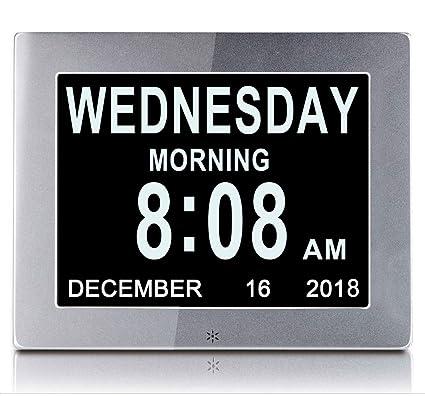 Calendario Elettronico.Zywtz Orologio Della Demenza Sveglia Digitale Da 8 Pollici