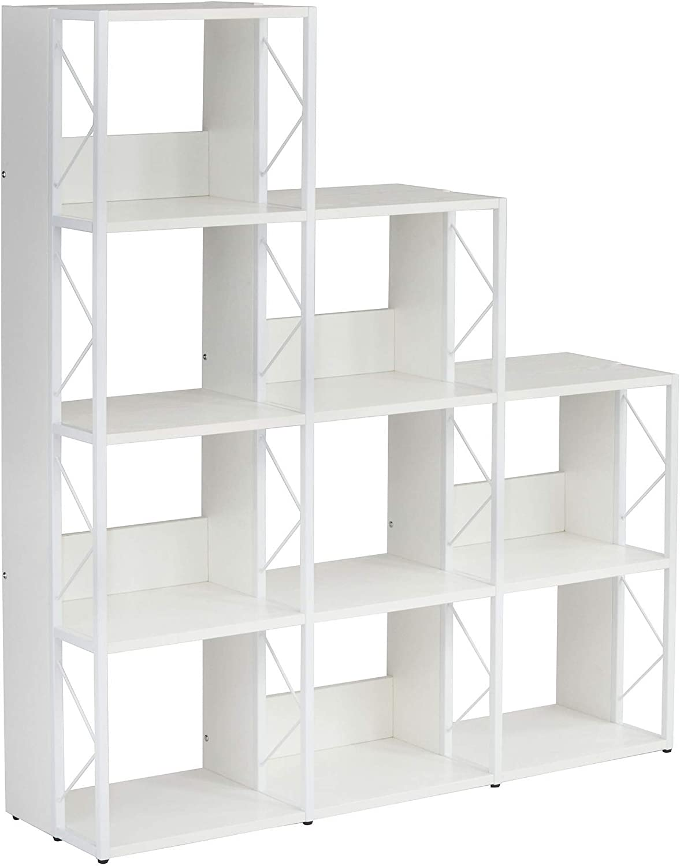 """Mayline SOHO Multi-Height Cube Bookcase 58""""H, Textured White Laminate"""