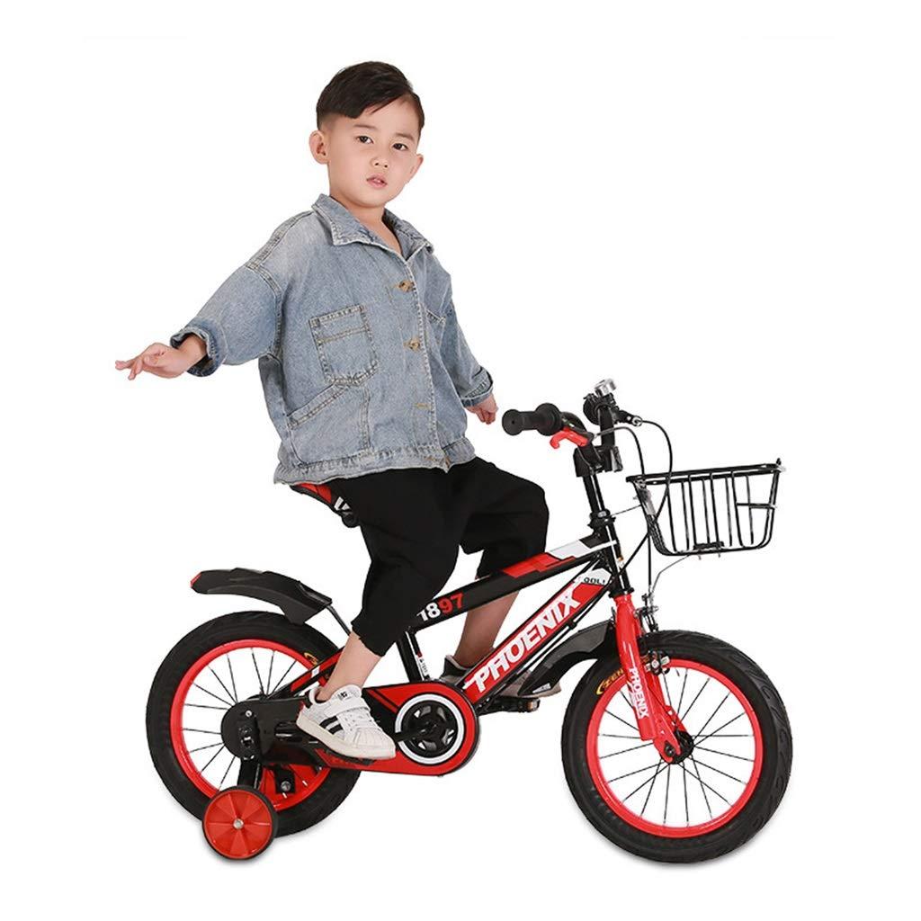 Bici per bambini Boy's Bike Bici da Ragazza 3 Colorei Tricicli da 12 , 14 , 16  Regalo del Bambino Adatto per 2-8 Anni (Colore   Red, Dimensione   14inches)